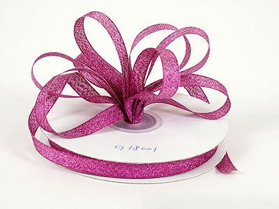 1/4 inch Azalea Metallic Ribbon