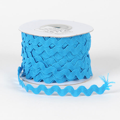 7mm - 25 Yards Turquoise Ric Rac Trim