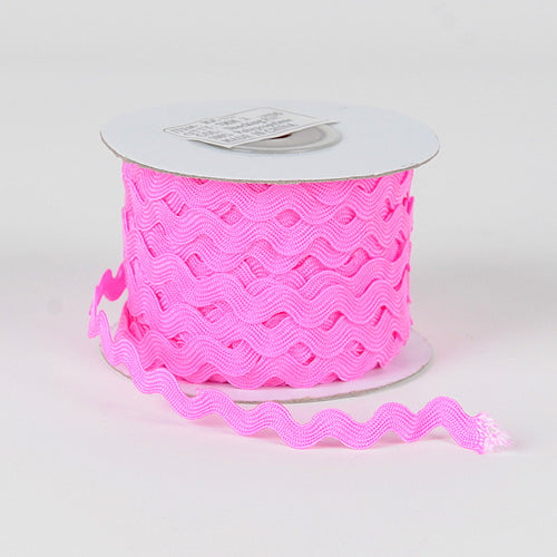 7mm - 25 Yards Shocking Pink Ric Rac Trim