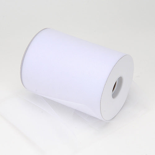 White Premium Tulle 100 Yards ( W: 6 Inch | L: 100 Yards )