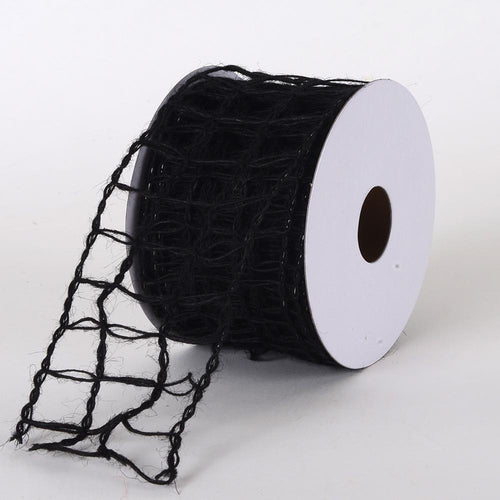 Black - Burlap Net Ribbon - ( W: 2-1/2 inch | L: 10 Yards )