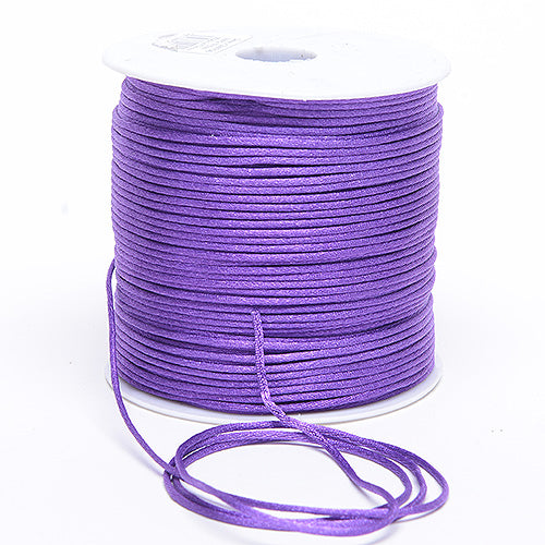 2mm x 100 Yards Purple Haze 2mm Satin Rat Tail Cord