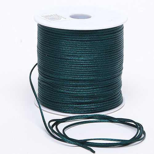 3mm x 100 Yards Hunter Green 3mm Satin Rat Tail Cord