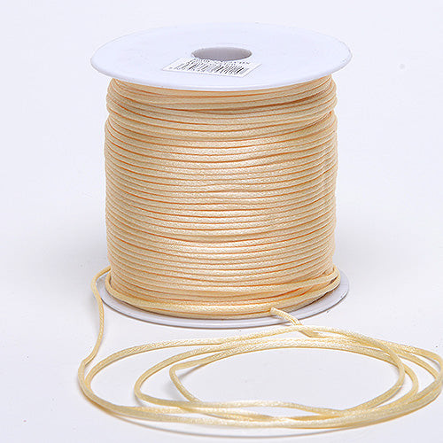 3mm x 100 Yards Ivory 3mm Satin Rat Tail Cord