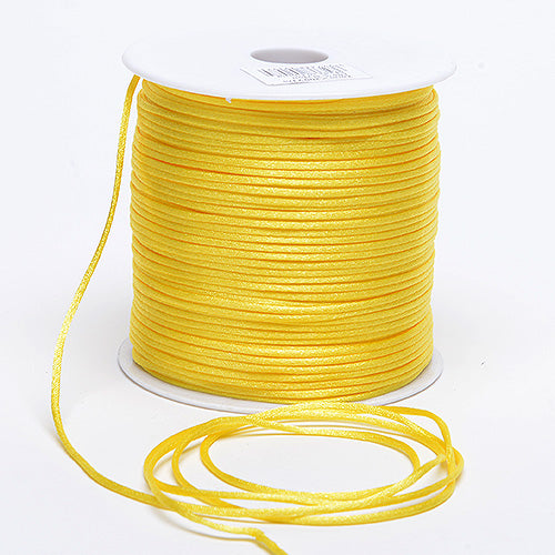 3mm x 100 Yards Canary 3mm Satin Rat Tail Cord