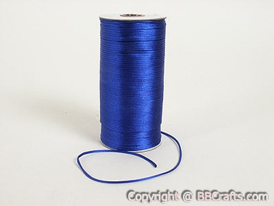 3mm x 100 Yards Royal Blue 3mm Satin Rat Tail Cord