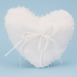 8.5 Inch x 10 Inch White Ring Bearer Pillow