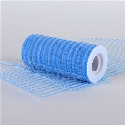 Turquoise 6 Inch Multi Striped Tulle