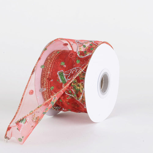 Christmas Ribbon ( 2-1/2 Inch x 10 Yards )