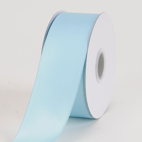 1-1/2 inch Light Blue Satin Ribbon Wired Edge