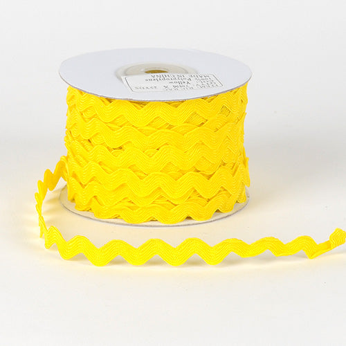 10mm - 25 Yards Yellow Ric Rac Trim