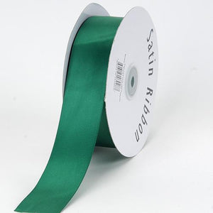 Hunter Green - Single Face Satin Ribbon - ( W: 1/16 inch | L: 300 Yards )