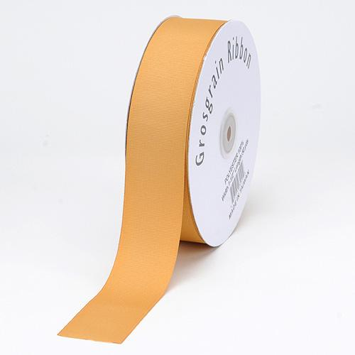 Old Gold - Grosgrain Ribbon Matte Finish - ( 1/4 inch | 50 Yards )