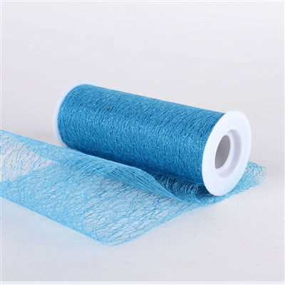 Turquoise - Glitter Sisal Mesh Rolls ( W: 6 Inch | L: 10 Yards )