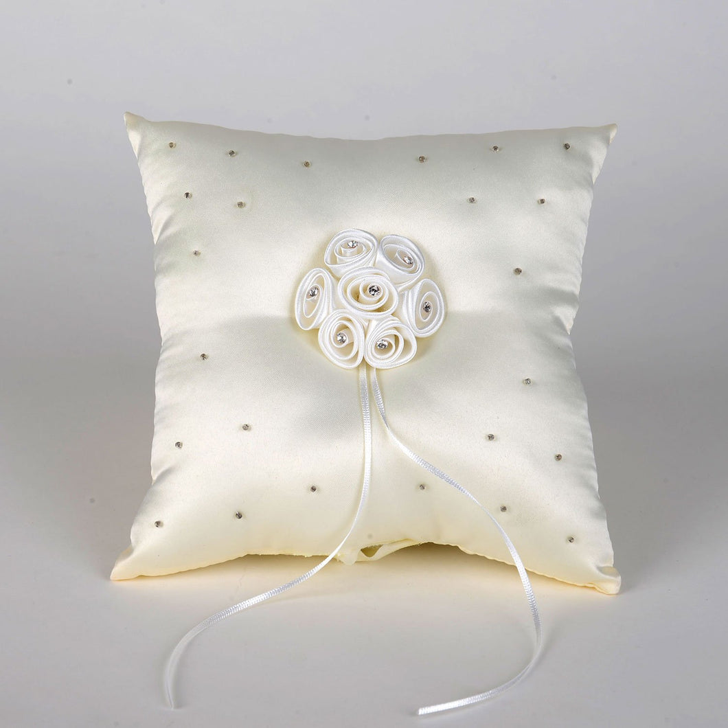 Ring Bearer Pillow Ivory ( 7 Inch x 7 Inch ) - 5601I