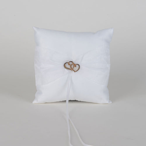 Ring Bearer Pillow White ( 7 x 7 Inch ) - 5635W
