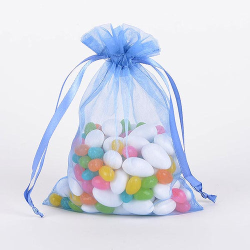 22x25.5 Inch - 10 Bags Light Blue Organza Bag
