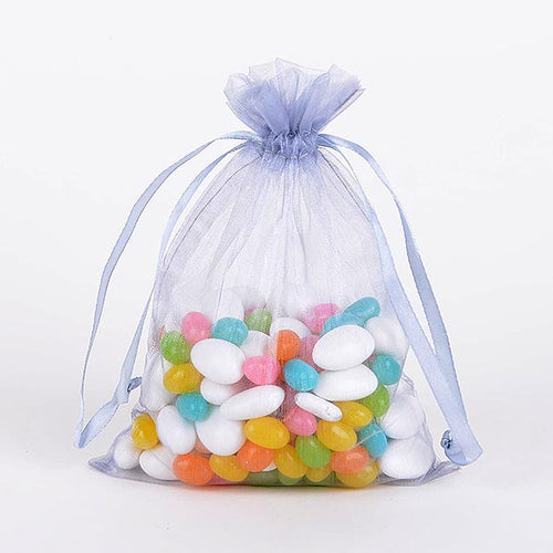 22x25.5 Inch - 10 Bags Smoke Blue Organza Bag