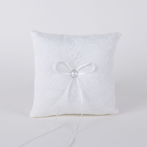 7 x 7 inches Ivory Ring Bearer Pillow