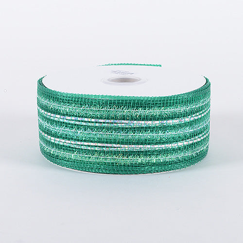 2-1/2 inch x 25 Yards Emerald Laser Metallic Mesh Ribbon