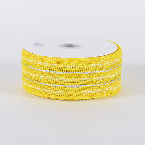 2-1/2 inch x 25 Yards Daffodil Laser Metallic Mesh Ribbon