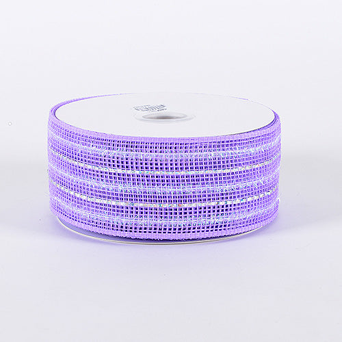 2-1/2 inch x 25 Yards Lavender Laser Metallic Mesh Ribbon