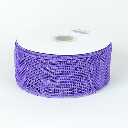 Purple - Floral Mesh Ribbon ( 2-1/2 Inch x 25 Yards )
