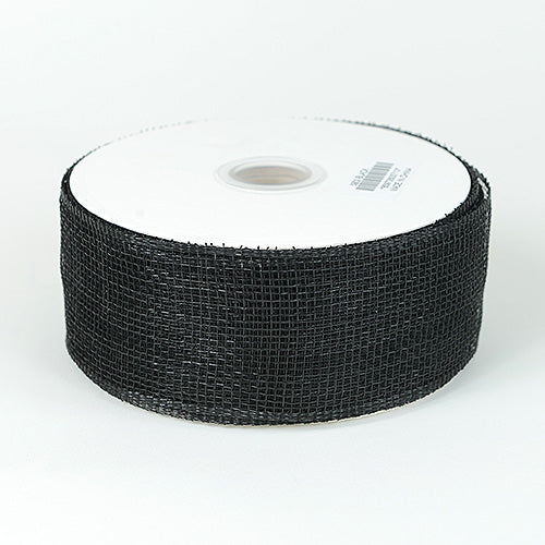 Black - Floral Mesh Ribbon ( 4 Inch x 25 Yards )