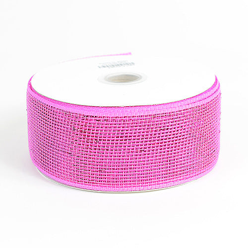 4 inch x 25 yards Fuchsia Metallic Deco Mesh Ribbons