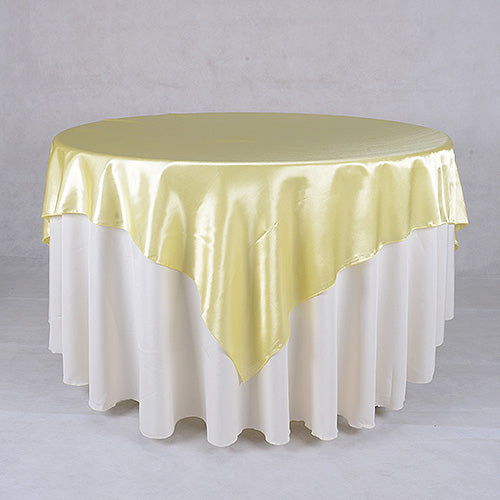 72 Inch Baby Maize 72 x 72 Satin Table Overlays