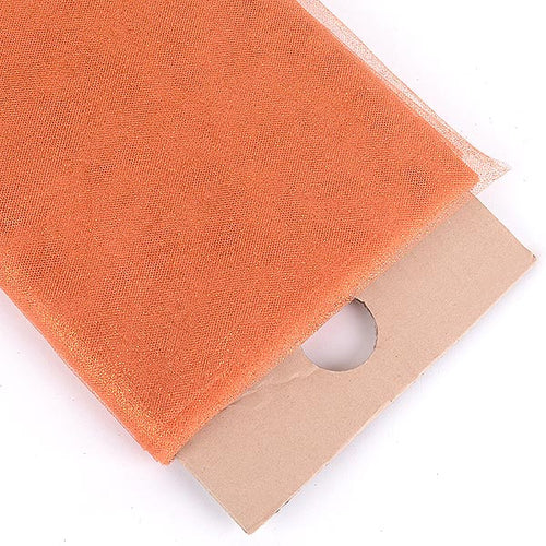 6 inch Orange Premium Glitter Tulle Fabric