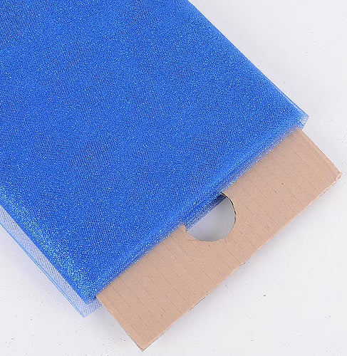 54 inch Royal Blue Premium Glitter Tulle Fabric