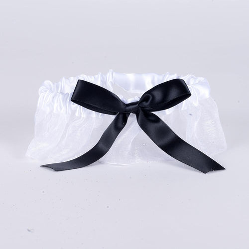 Lace Garters White ( 6 Inch Width ) - 6404WB