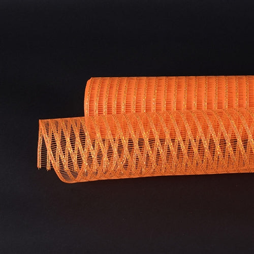 21 Inch x 10 Yards Orange Deco Mesh Laser Eyelash