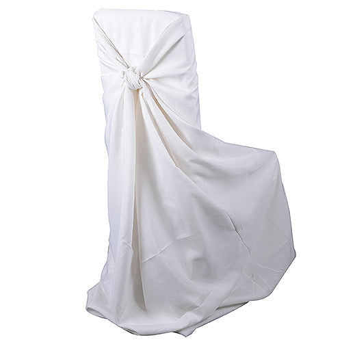 Universal Satin Chair Cover Ivory Wholesale Chair Covers
