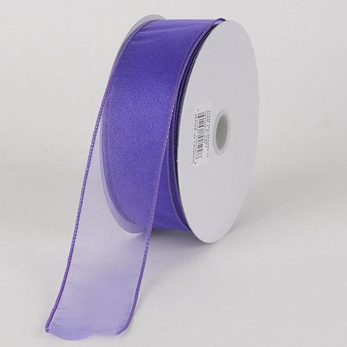 Grape - Organza Ribbon Thick Wire Edge 25 Yards - ( W: 1-1/2 inch | L: 25 Yards )