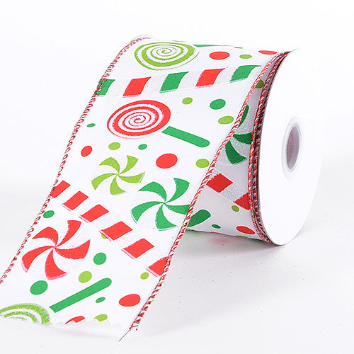 Christmas Ribbon Candy Cane ( 2-1/2 Inch x 10 Yards )