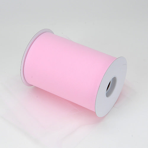 6 inch Light Pink Premium Polyester Tulle 100 Yards