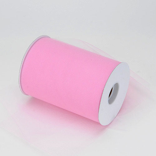 6 inch Pink Premium Polyester Tulle 100 Yards