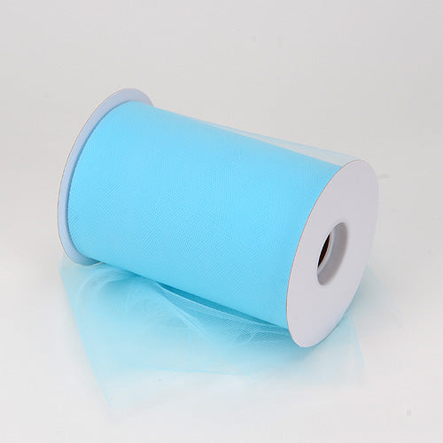 6 inch Light Blue Premium Polyester Tulle 100 Yards