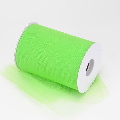 Pre-Order Now & Ship on Feb 19th! 6 inch Apple Green Premium Polyester Tulle 100 Yards