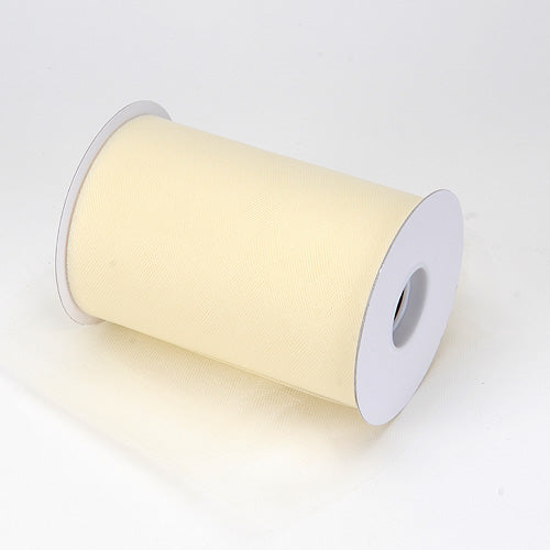 6 inch Ivory Premium Polyester Tulle 100 Yards