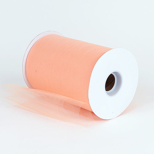 6 inch Peach Premium Polyester Tulle 100 Yards
