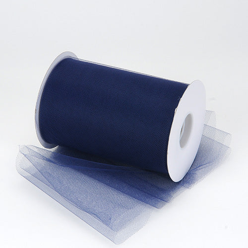 6 inch Navy Blue Premium Polyester Tulle 100 Yards
