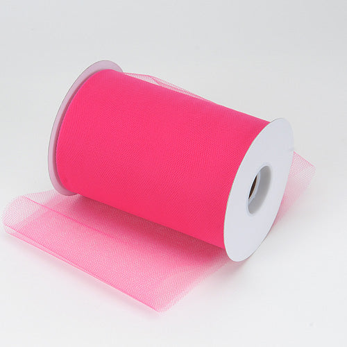 6 inch Fuchsia Premium Polyester Tulle 100 Yards