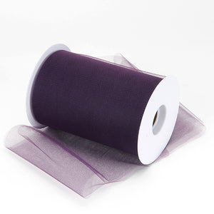 6 inch Plum Premium Polyester Tulle 100 Yards