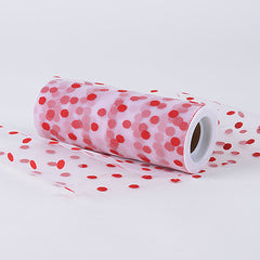 Polka Dot Nylon Tulle Fabric