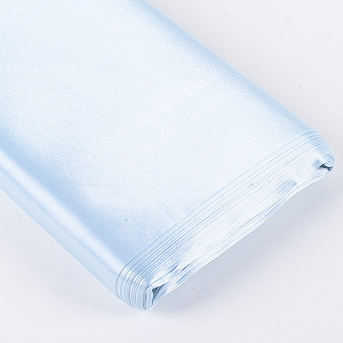 60 inch Light Blue Premium Satin Fabric
