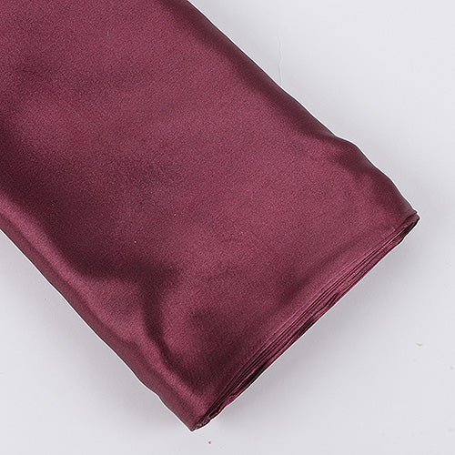 60 inch Burgundy Premium Satin Fabric
