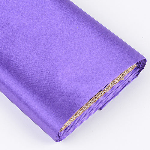 60 inch Purple Premium Satin Fabric
